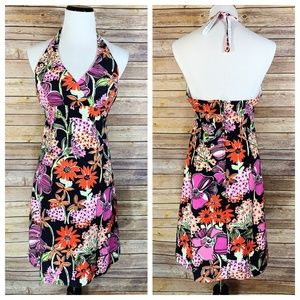 Lilly Pulitzer White Label Floral Halter Dress